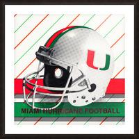 Retro Miami Hurricane Football Helmet Art Picture Frame print