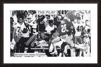 1987 Michael Irvin Miami Football Art Picture Frame print