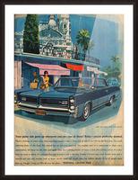 1964 Pontiac Grand Prix Car Advertisement Picture Frame print