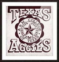 Vintage Texas Aggies Art Picture Frame print