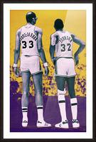 1984 Magic Johnson Kareem Remix Art Picture Frame print