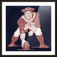 1976 New England Patriots Vintage Art Picture Frame print
