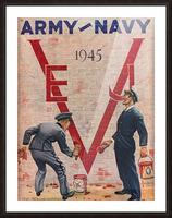1945 Army Navy Football Program Canvas Art Picture Frame print