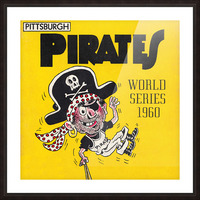 1960 Pittsburgh Pirates World Series Art Picture Frame print