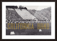 1937 California Marching Band Art Picture Frame print
