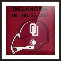 1977 Oklahoma Football Ticket Remix Row 1 Picture Frame print