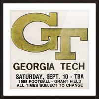 1988 Georgia Tech Football Ticket Stub Remix Picture Frame print