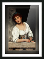 Girl At The Window by Eugen von Blaas Classical Art Xzendor7 Old Masters Reproductions Picture Frame print