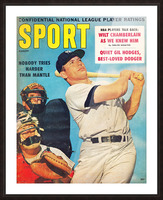 1960 Mickey Mantle Sport Cover Art Picture Frame print