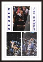 1982 Kansas Jayhawks Basketball Art Picture Frame print