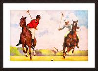 1933 Vintage Polo Art Picture Frame print