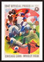 1947 Chicago Cubs Program Otis Shepard Art Picture Frame print