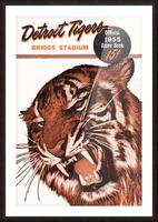 1955 Detroit Tigers Score Book Canvas Picture Frame print
