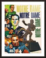 1968 Notre Dame Football Heisman Winner Art Picture Frame print