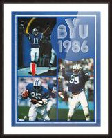 1986 BYU Cougars Football Art Picture Frame print