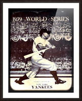 1939 Vintage World Series Program Cover Art Remix by Row 1 Picture Frame print