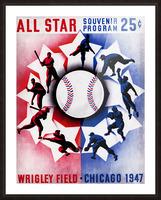 1947 Chicago All-Star Game Program Art Picture Frame print