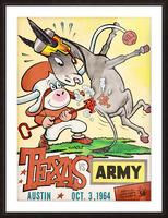 1964 Army vs. Texas Longhorns Football Program Art Picture Frame print