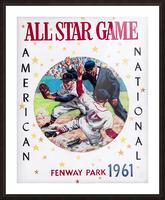 1961 Boston All-Star Game Baseball Program Art Picture Frame print