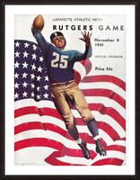 1941 Rutgers vs. Lafayette Picture Frame print