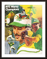 1972 Oakland Athletics World Champions Poster Picture Frame print