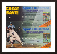 1981 Sports Illustrated Baseball Ad Poster Picture Frame print