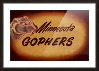 1950 Vintage Minnesota Golden Gopher Art Picture Frame print