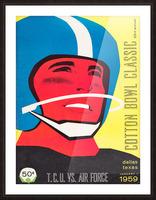 1959 TCU vs. Air Force Football Program Cover Art Picture Frame print