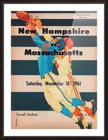 1961 Massachusetts vs. New Hampshire Wildcats Picture Frame print