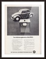 1971 Vintage Volkswagen Car Ad Poster Picture Frame print