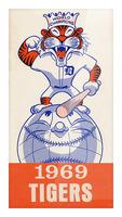 1969 Detroit Tigers Retro Baseball Art Picture Frame print