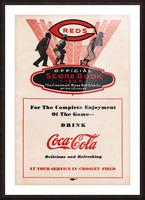 1934 Cincinnati Reds Score Book & Coke Ad Picture Frame print