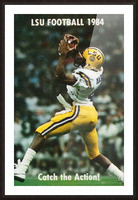 1984 LSU Tigers Football Catch The Action Picture Frame print