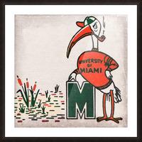 Vintage Fifties Miami Hurricane Art Picture Frame print