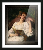 Day Dreaming by Conrad Kiesel Xzendor7 Old Masters Reproductions Picture Frame print
