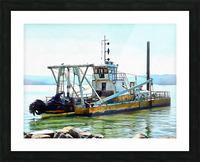 Lake Dredger at Passignano Sul Lago Picture Frame print