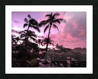 After the Beach Party - Tropical Sunset Hawaii Picture Frame print