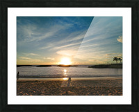 By the Fading Light of the Sun - Tropical Sunset Hawaii Picture Frame print