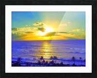 Golden Sunset After the Storm Picture Frame print