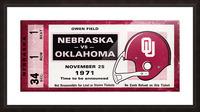 1971 Oklahoma Sooners vs. Nebraska Cornhuskers Remix Picture Frame print
