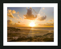 Atlantic Sunset over Praia Del Rey - Portugal Picture Frame print