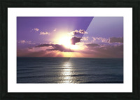 Tranquility - Relaxing Sunset over the Pacific Picture Frame print