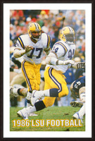 1986 LSU Retro Football Poster  Picture Frame print