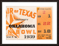 1939 Texas Longhorns vs. Oklahoma Sooners Picture Frame print