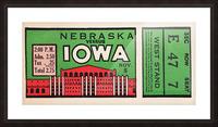 1932 Iowa Hawkeyes vs. Nebraska Cornhuskers Picture Frame print