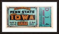 1930 Iowa vs. Penn State Picture Frame print
