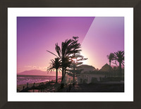 Sunset Costa Del Sol Spain Picture Frame print