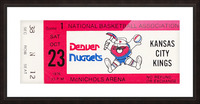 1976 Denver Nuggets First NBA Home Game Picture Frame print