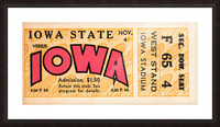 1933 Iowa State vs. Iowa Football Ticket Art Picture Frame print