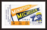 1951 Michigan vs. Minnesota Football Ticket Art Picture Frame print